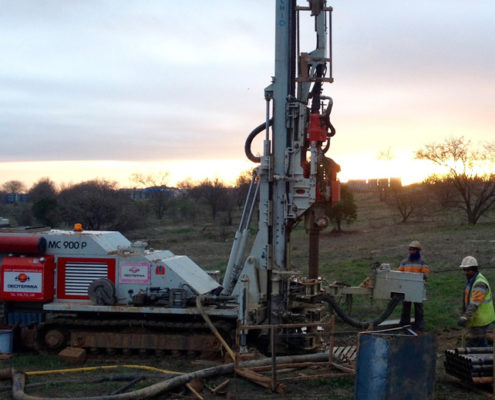 perforación geotérmica