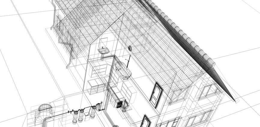 Plano casa energía geotérmica